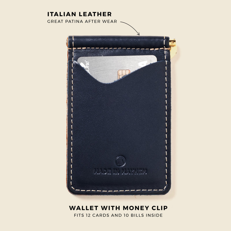 wallet with clip for cash