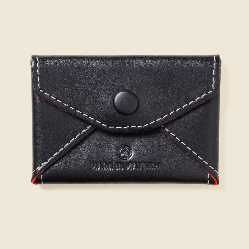black leather wallet for coin