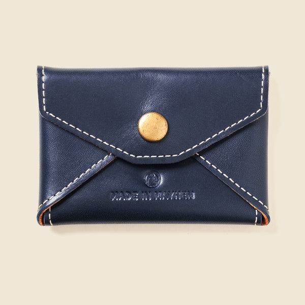 navy leather envelope