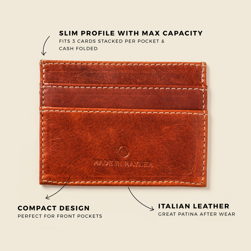 Compact brown wallet