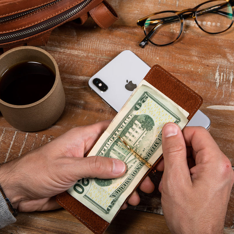 Compact wallet for cash and cards