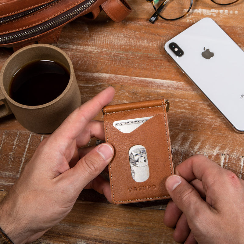 Money Clip Wallet - Whiskey