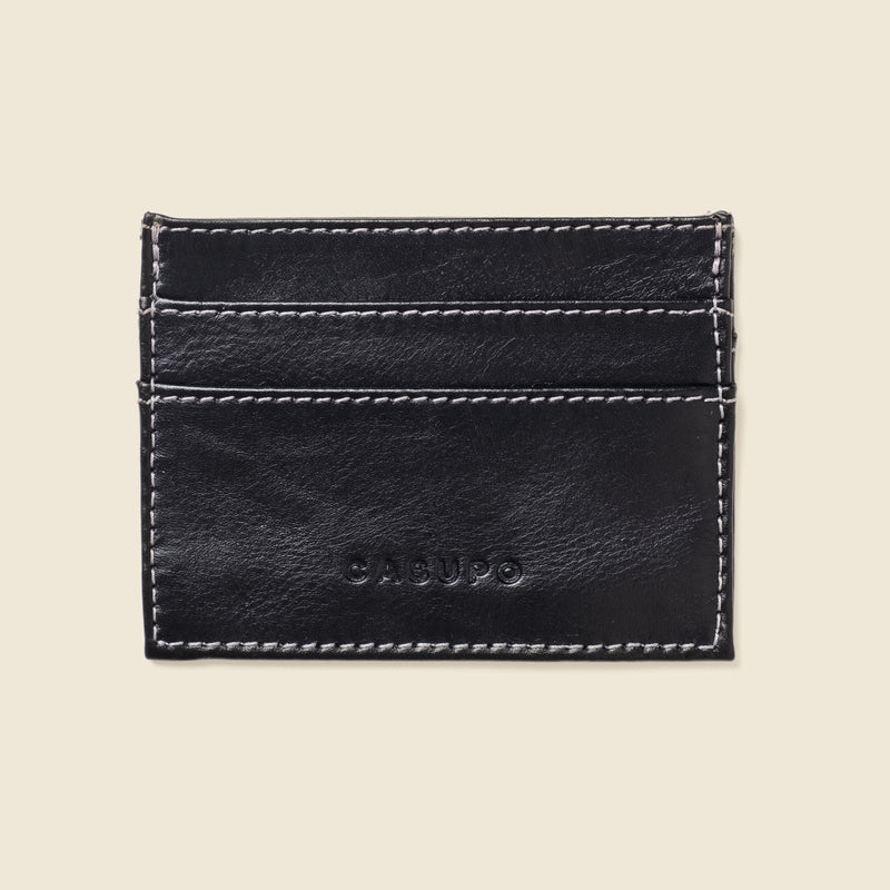 Slim Card Holder Wallet - Black