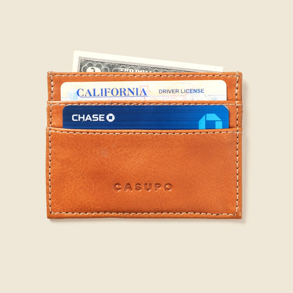 Slim Card Holder Wallet - Whiskey