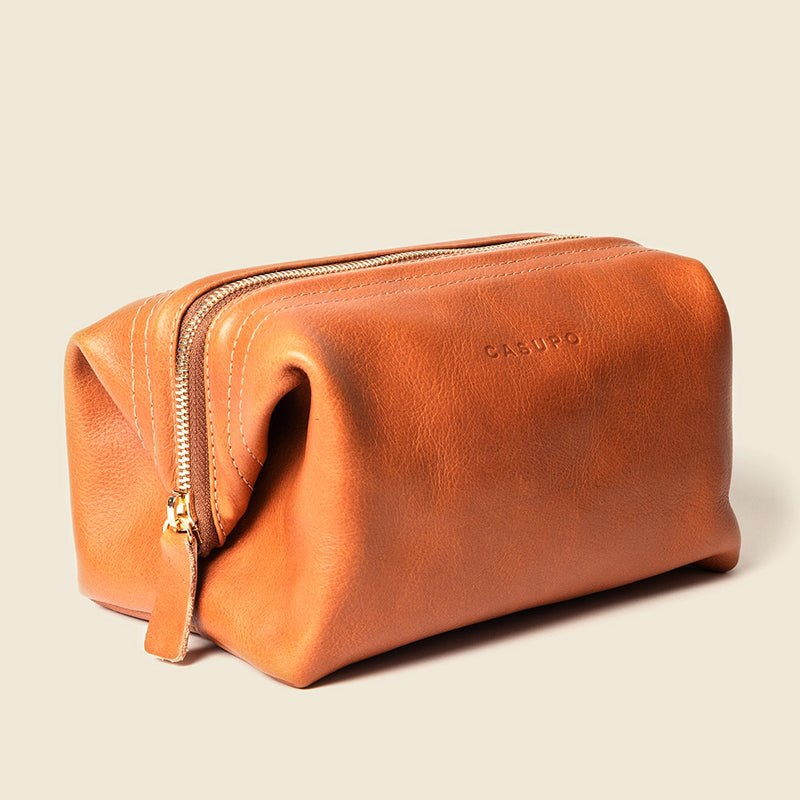 toiletry leather bag for men