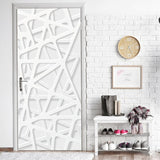 Western Bar Wood Door Stickers DIY Self-adhesive Waterproof Wallpaper for Door Home Decoration Bedroom Living Room Mural Decals