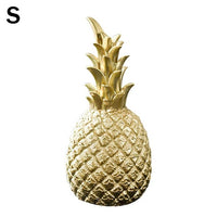 Home Ornament 3 Colors Resin Gold Pineapple Figurine Living Room Office Desk Handmade Nordic Creative Crafts Decoration Supplies
