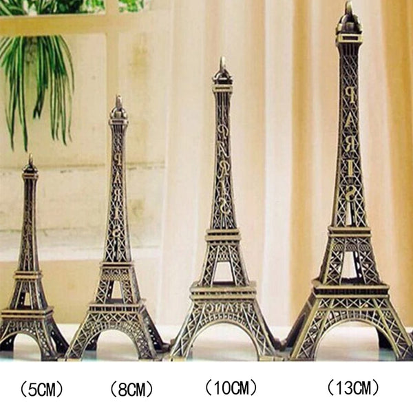 Tower Figurine Statue Home Decor Romantic Retro Metal Crafts Vintage Bronze Tone Paris Effiel Fashion Decor 5/8/10/13cm #0117