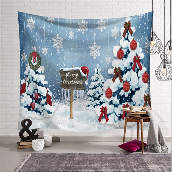 New Arrival Christmas Art Wall Hanging Tapestry Christmas Decor Backdrop Party Home Decor Tapestries