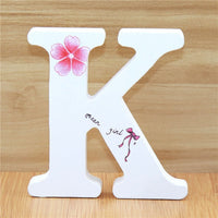 1pc 10cm English Wooden Letters Decorative White Butterfly Alphabet Ornaments Crafts Wood Letter Lettering Wedding Numbers DIY