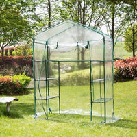 PVC Corrosion-resistant Plant Cover Plant Greenhouse Cover Waterproof Anti-UV Protect Garden Plants Flowers (without Iron Stand)