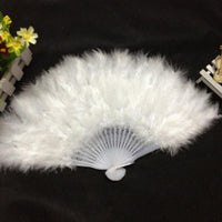 Hot Folding Hand Held Fan Chinese Style Dance Wedding Party White, Red, Rose red 26*45cm #05