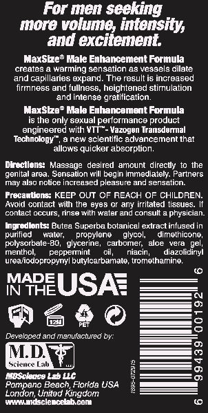 Swiss Navy Max Size Cream 5oz/147ml - Tube