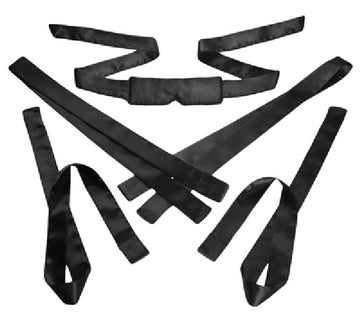 Bordeaux 5 Piece Black Satin Bondage Set