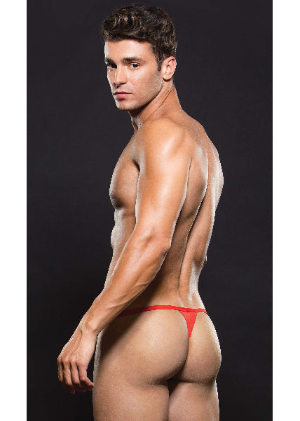 Microfiber Magnetic G String Red