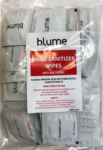 Blume Anti-Bacterial Hand Sanitizer Wipes (X90)