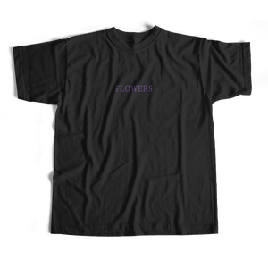 Flowers T-shirt in black by PURPLE & CHROME