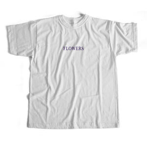 Flowers T-shirt in white by PURPLE & CHROME