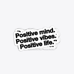 LARGE POSITIVE STICKER - PURPLE & CHROME