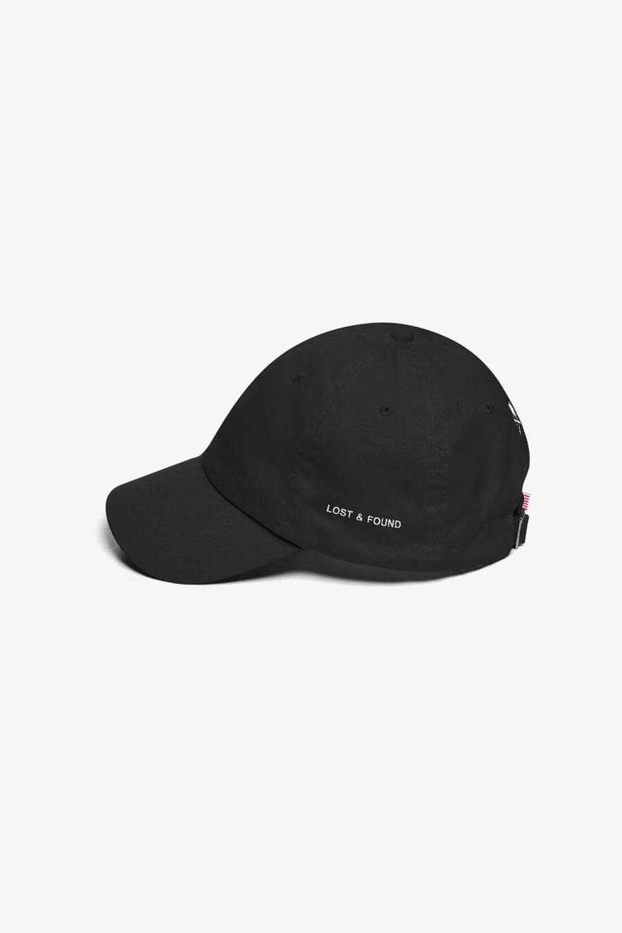 LOST & FOUND TWILL CAP IN BLACK - PURPLE & CHROME
