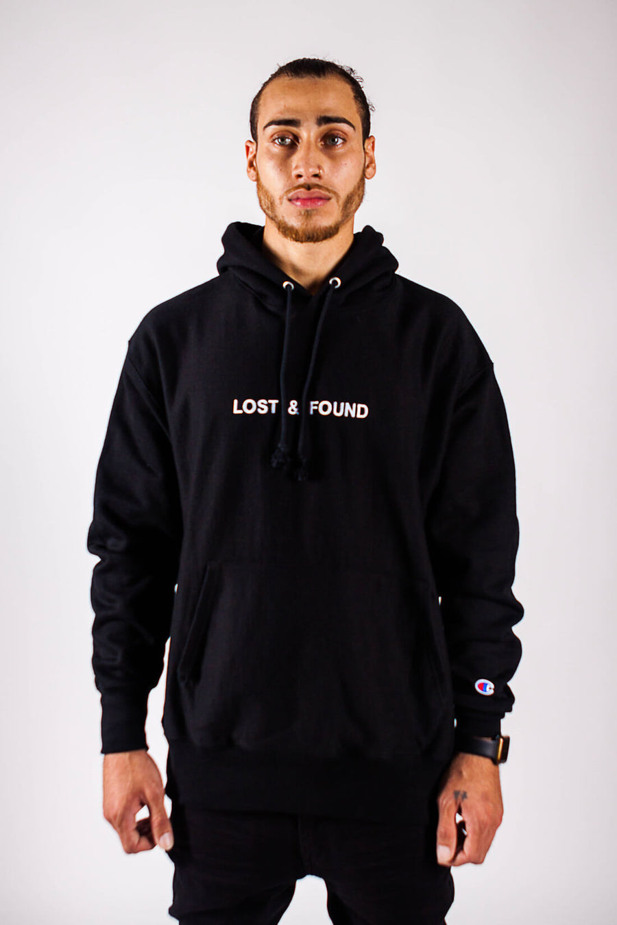 LOST & FOUND HOODIE - PURPLE & CHROME