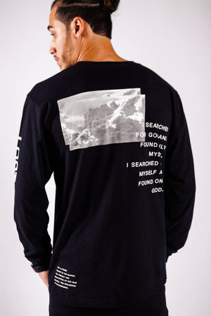 LOST & FOUND LONG SLEEVE TEE - PURPLE & CHROME