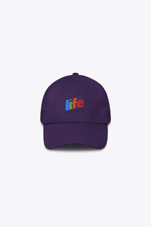LIFE MADE ME THIS WAY DAD HAT IN PURPLE