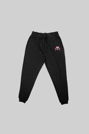 Heart and Crosses Sweatpant - Black/Pink