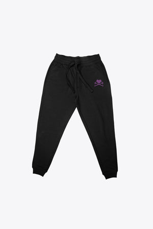 Heart and Crosses Sweatpant - Black/Purple