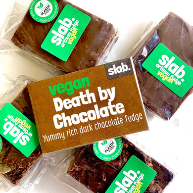 Death By Choc Slab – Vegan Fudge