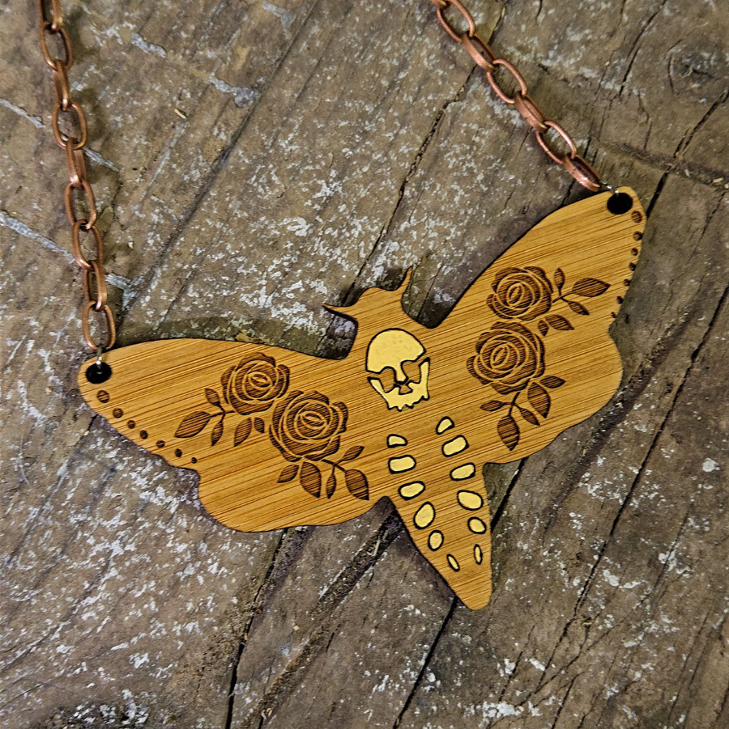 Deathshead Moth Necklace