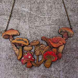Le Champignon Mushroom and Toadstool Necklace