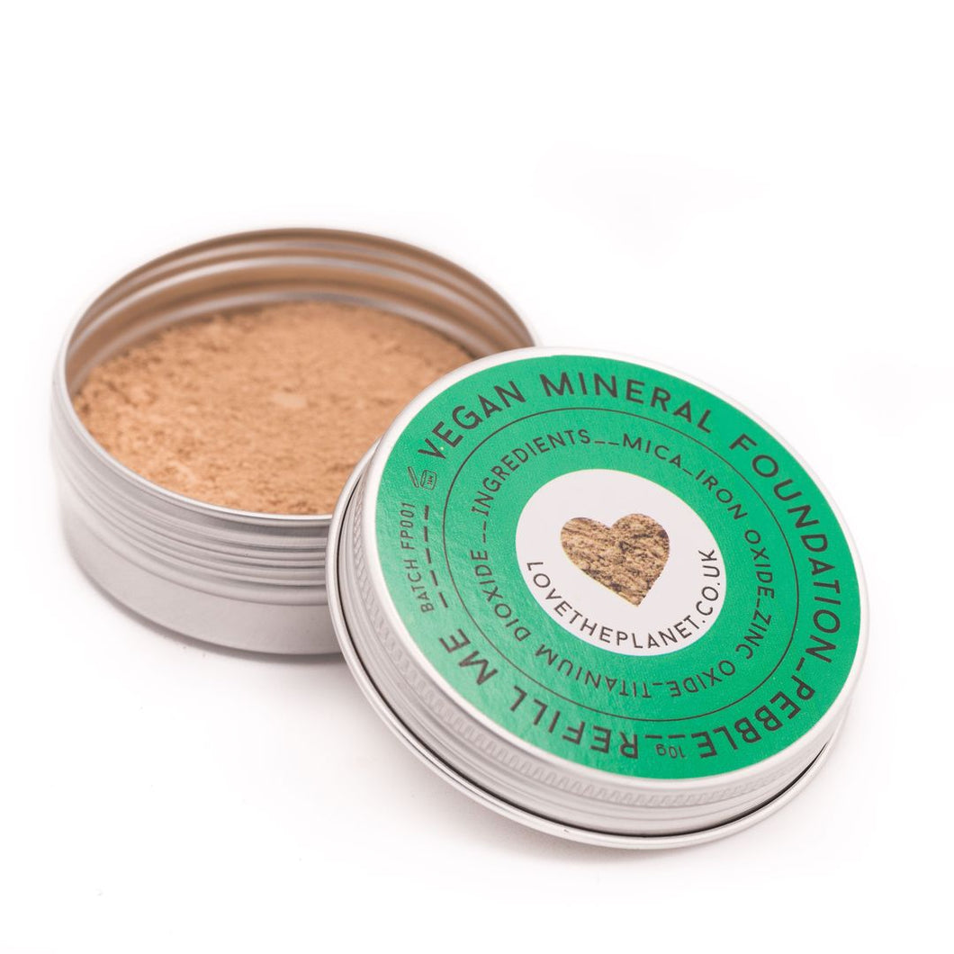 Vegan Mineral Foundation Refillable Tin (Love The Planet)