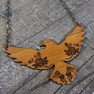 Raven and Rose Necklace