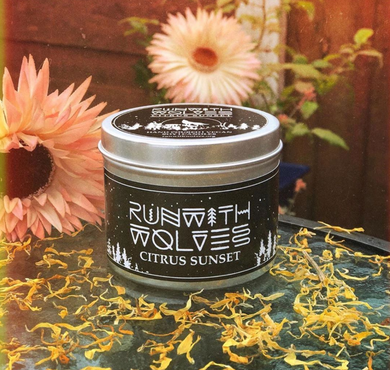 Citrus Sunset Soy Wax Candle - Run With Wolves 🐺