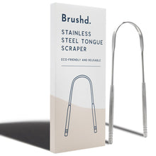 Load image into Gallery viewer, Brushd Stainless Steel Tongue Scraper