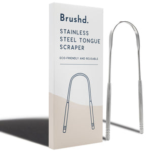 Brushd Stainless Steel Tongue Scraper
