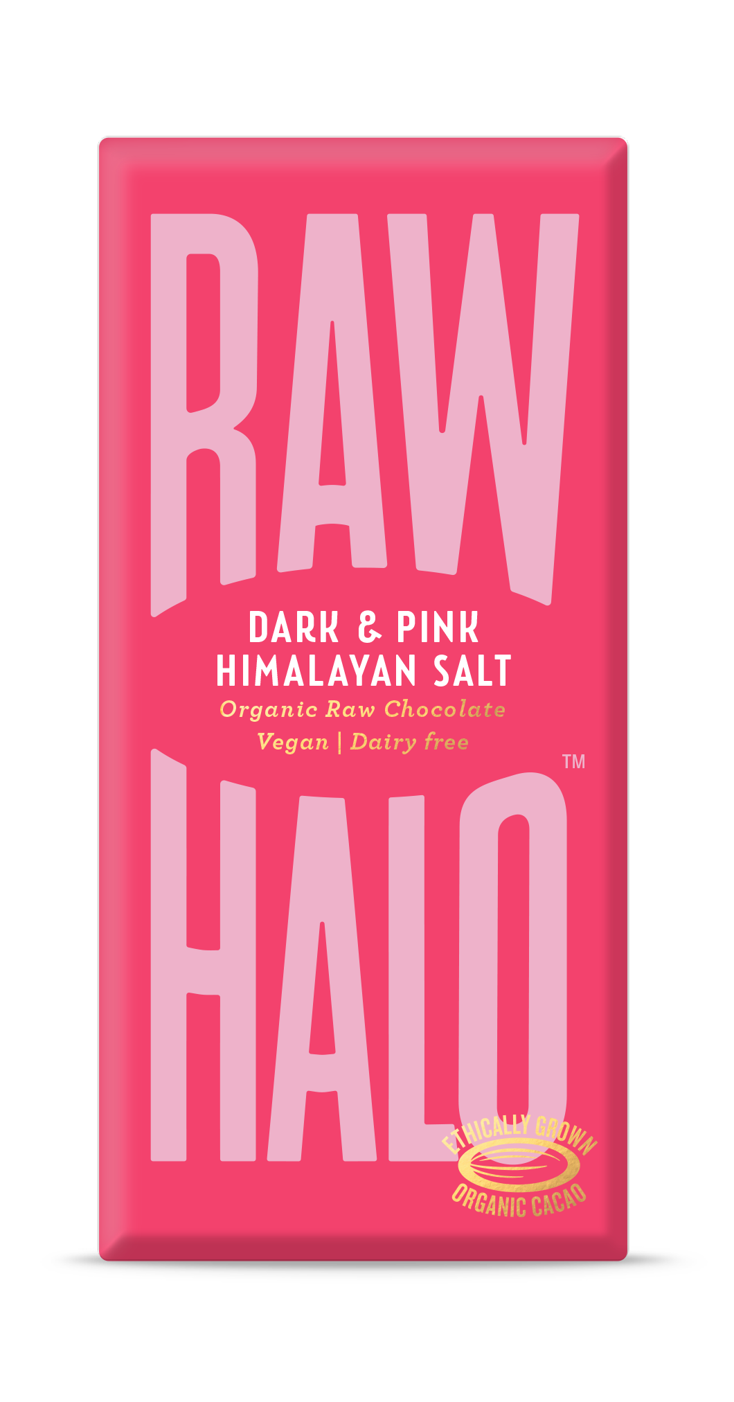 Raw Halo Vegan Chocolate - Dark and Pink Salt (70g)
