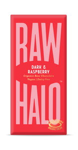 Raw Halo Vegan Chocolate - Dark and Raspberry (70g)
