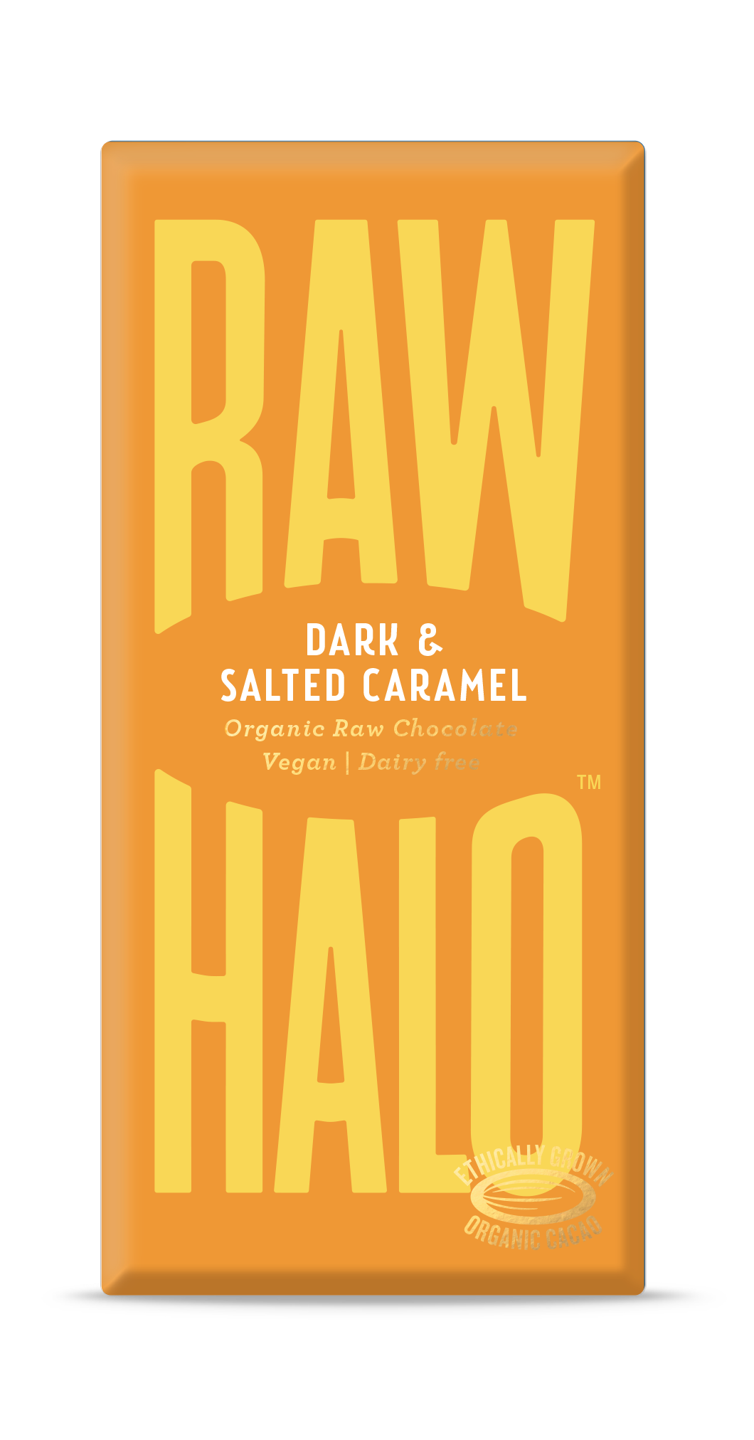 Raw Halo Vegan Chocolate - Dark and Salted Caramel (70g)