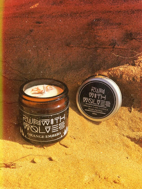 Orange Embers Soy Wax Candle - Run With Wolves 🐺
