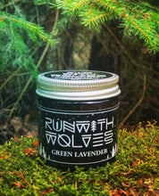 Load image into Gallery viewer, Green Lavender Soy Wax Candle - Run With Wolves 🐺