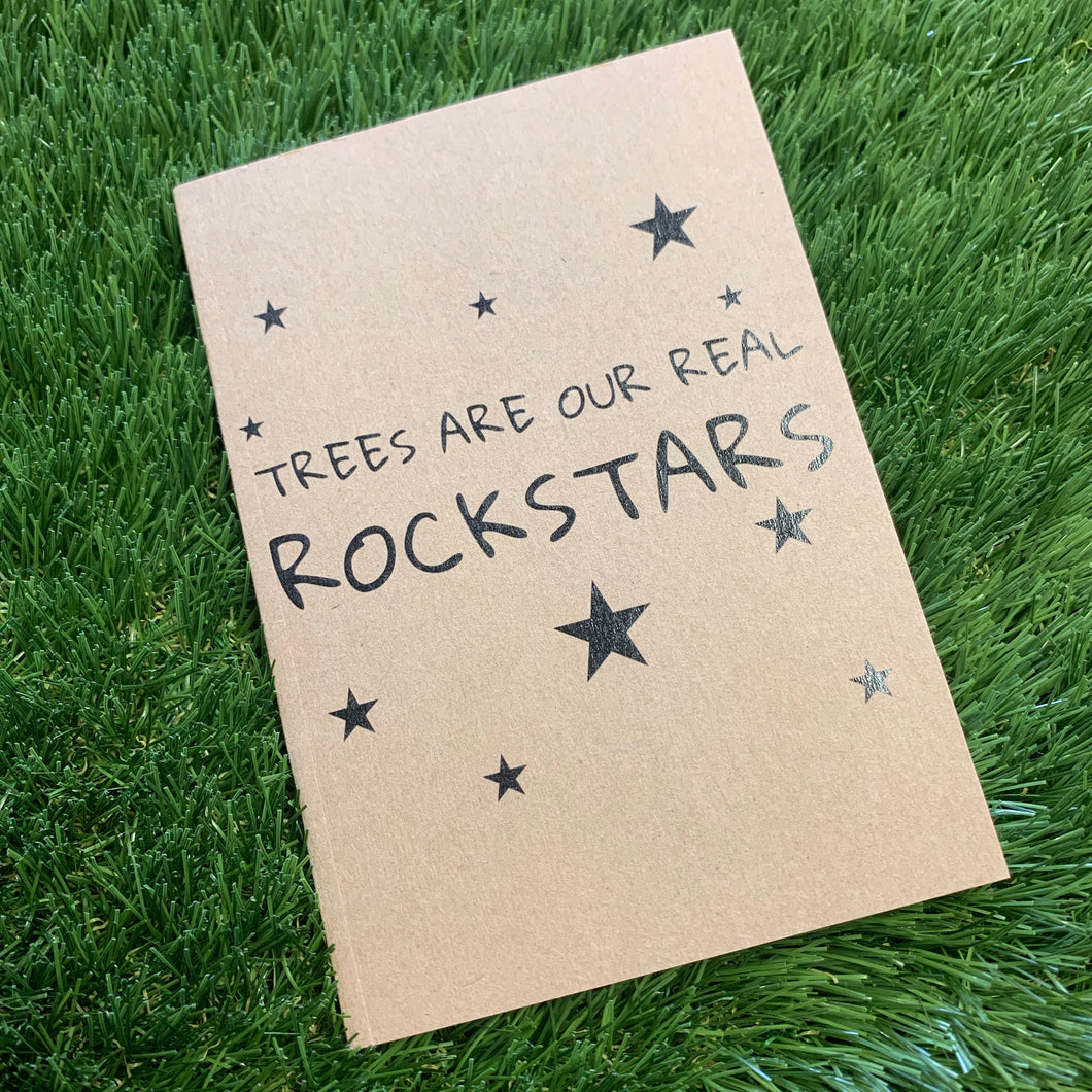 A6 Recycled Notebook (Rockstar Trees Edition)