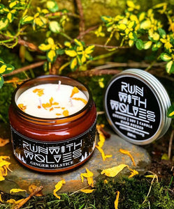 Ginger Solstice Soy Wax Candle - Run With Wolves 🐺