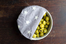 Load image into Gallery viewer, Oliwrap: Vegan Food Wrap (Grey Star)