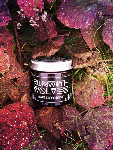 Run With Wolves Soy Wax Candle - Amber Forest