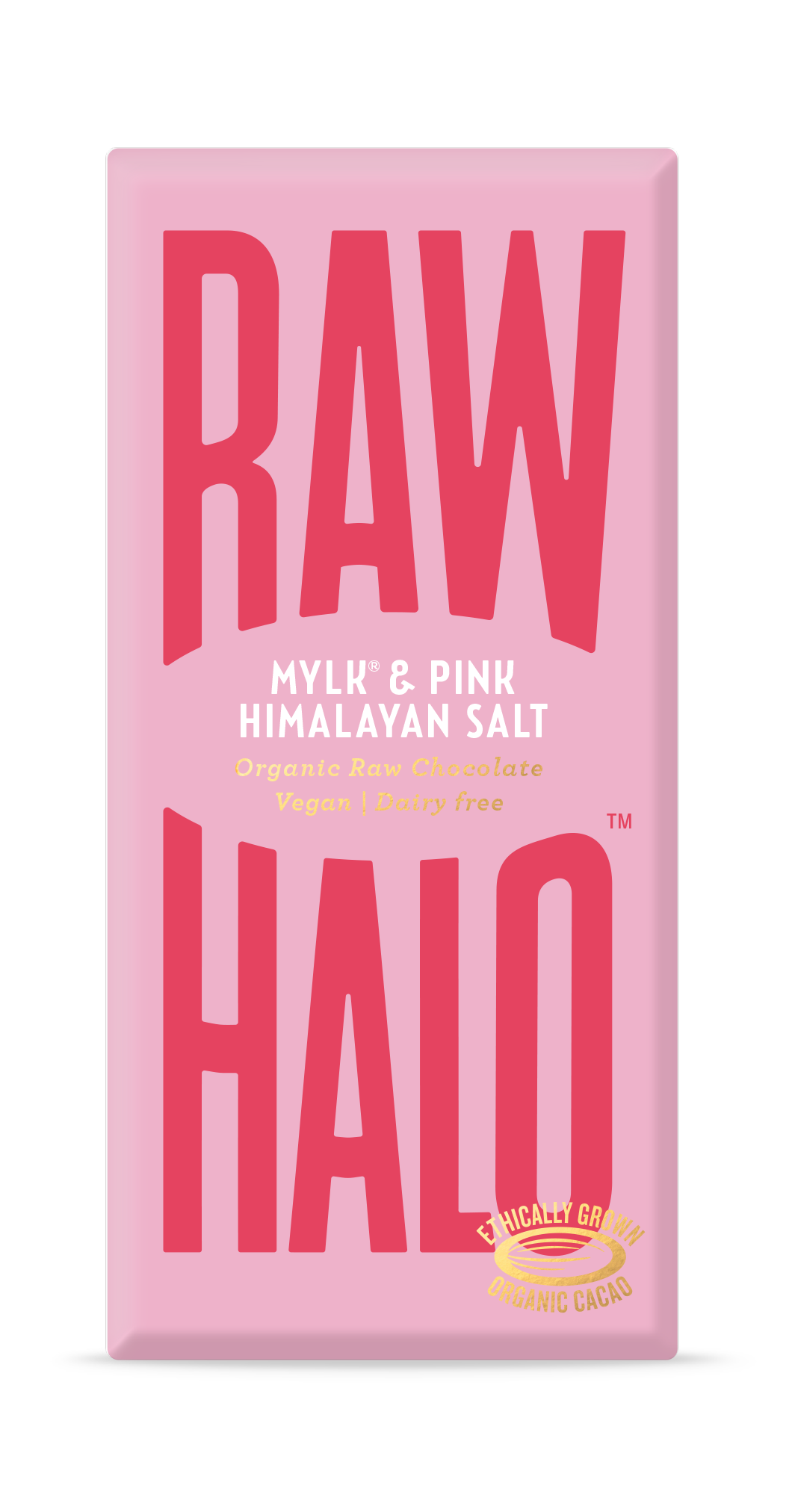 Raw Halo Vegan Chocolate - Mylk and Pink Salt (70g)