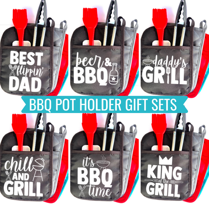 BBQ Themed Pot Holder Gift Sets