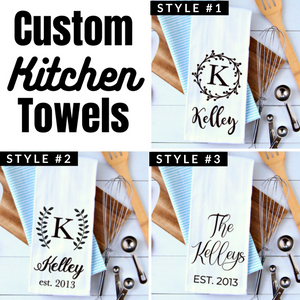 Custom Name Kitchen Towels