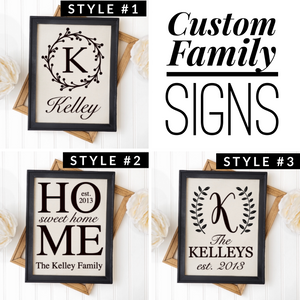 Custom Family Last Name Signs